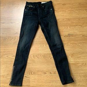 Rag and bone skinny jeans ring dive Capri